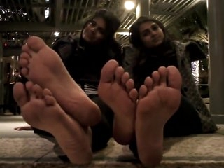 Two Indian Ladys Discuss Stinky Feet
