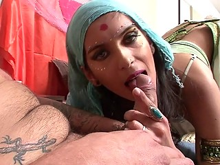 Real indian wife shows off her blowjob skill