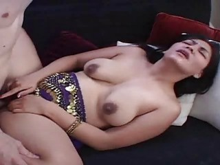 Fresh and hot sperm in very hairy indian twat