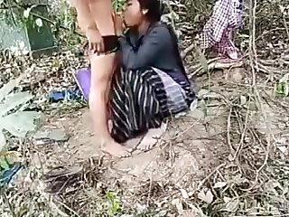 schoo boy fuck his girlfriend in the forest