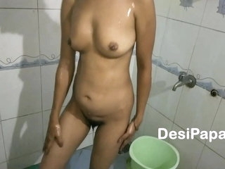 Indian Aunty Taking Shower